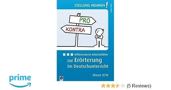 Differenzierte Arbeitsblätter zur Erörterung im Deutschunterricht ...