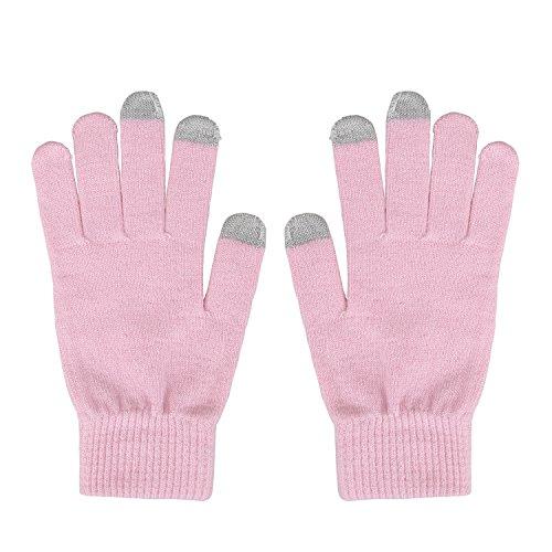Magic Zone Damen Winterhandschuhe Stretch Kaschmir Handschuhe Touchscreen Handschuhe Damen Volltonfarbe Warm Gestrickte Dicke Warme Handschuhe (Stretch-handschuhe Weiche)