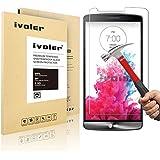 LG G3 Pellicola Protettiva, iVoler® Pellicola Protettiva in vetro temperato per LG G3- Vetro con Durezza 9H, Spessore di 0,2 mm,Bordi Arrotondati da 2,5D-Shockproof, Trasparenza ad alta definizione,  Facile da installare- Garanzia a vita