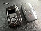 Custodia protettiva per chiavi in 2 pezzi in plastica rigida (ABS) di alta qualità, 5pulsanti, per Range Rover, Evoque, Discovery, Freelander Sport 201420152016, colore: arancione, Black
