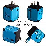 Adaptador Enchufe de Viaje Universal Dos Puertos USB para US EU AU de 150...