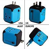 ¡VAMOS A VIAJAR! Antes de utilizar este adaptador, tenga en cuenta lo siguienteEste adaptador y cargador de viaje no es un convertidor de potencia ni convierte el voltaje.No funciona en Sudáfrica. Por favor, compruebe el voltaje apropiado del disposi...