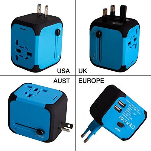 Adaptador Enchufe de Viaje Universal Dos Puertos USB para 150 Países