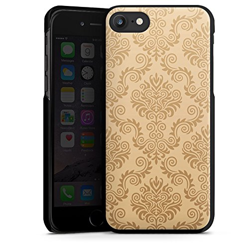 Apple iPhone X Silikon Hülle Case Schutzhülle Ornamente Flower Retro Hard Case schwarz