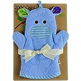 Zoocchini Gant de Toilette Marionnette Motif Henry L'Hippo
