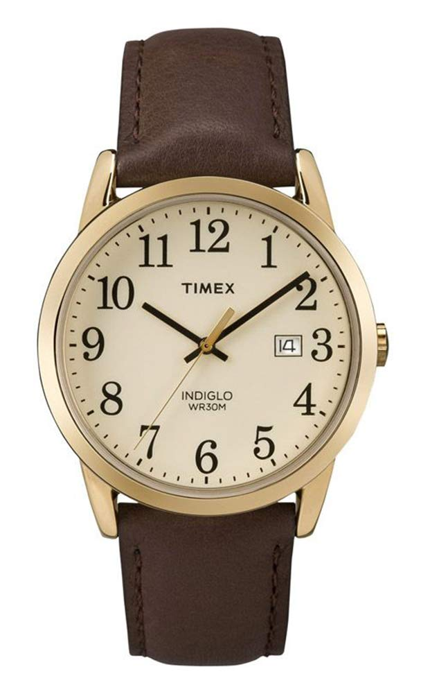 Timex Men's Easy Reader 38 mm Leather Strap Watch