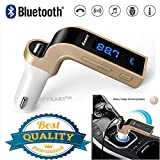 SPYKART LCD Bluetooth Car Charger FM Kit MP3 Transmitter USB and TF Card