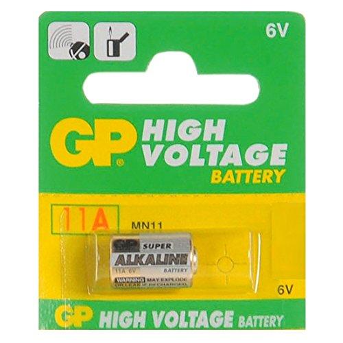 GP Batteries - Batteria alcalina 11A, modello L1016, 6 V, ideale per campanelli, telecomando auto, accendini,