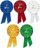 Clinch Star Cintas de premio Rosette Premium para ceremonias y eventos 1º 2º 4º 4º 5º