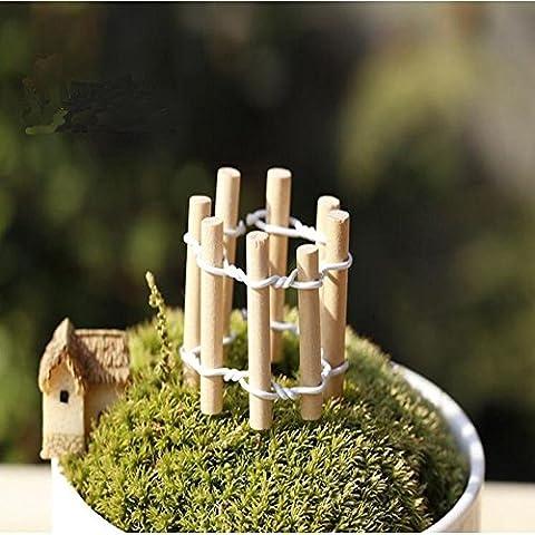 Y & B Fleur Mini Clôture Paysage microlandschaft fabriqué Campagne Fleurs d'ameublement Home Decor Lot de 2