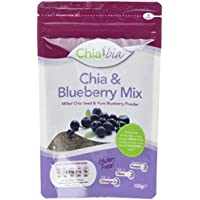 Chia Bia Milled Chia Seed and Blueberry Mix 100 g (Pack of 1)