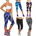 West See Frauen Leggings 3/4 Hose Hoher Taille Fitness Yogahose Sporthose Traininghose
