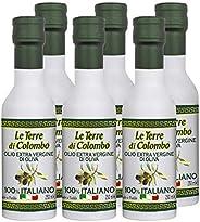 Le Terre di Colombo – 100% Italian Extra Virgin Olive Oil, Aluminium Bottles, Pack of 6, 0.25 L