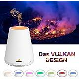 Aroma Diffuser, Vulkan Design 300ml Diffuser infinitoo Luftbefeuchter   Raumbefeuchter mit 7 LED Farbwechsel für Wohnzimmer, Kinderzimmer, Schlafzimmer, und Yogazimmer, SPA, Büro