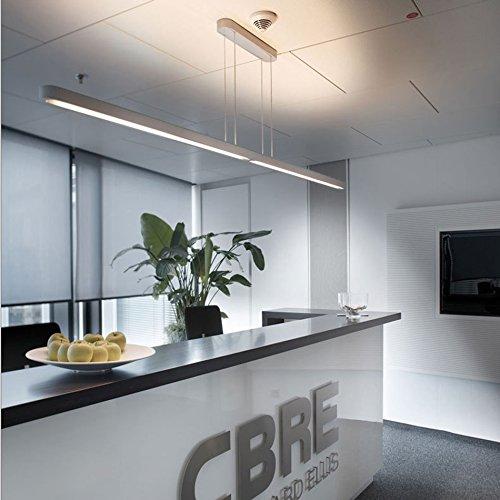Pendelleuchten Moderne Einfachheit Kronleuchter Aluminium Büro Beleuchtung Studie Arbeitsplatz Bar Esstisch LED Kronleuchter Deckenleuchte (ausgabe : T5-L90cm)