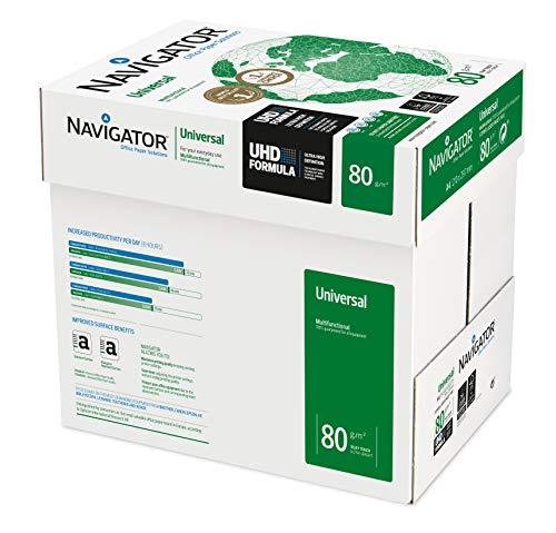 Navigator Universal Papier vielseitig einsetzbar eingeriest 80 g/m² A4 5 x 500 Blatt weiß