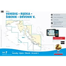 Sportbootkarten Satz 7: Adria 1 (berichtigt bis Januar 2016): Venedig - Rijeka - Sibenik - Drvenik V.