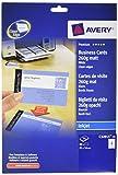 Avery Italia C32015-10 Quick&Clean Biglietti da Visita, Patinati, Opachi, Stampabili Fronte/Retro, 260 G, Stampanti Inkjet, 10 Fogli, 85x54, Bianco