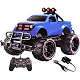 HALO NATION® 1:20 Hummer Remote Control Monster Truck Rock Crawling Scale Car (Blue)