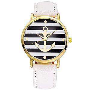 SoulSisters Armbanduhr Maritim mit Anker Motiv
