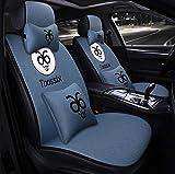 Cuscino seggiolino auto in lino Cuscino quattro stagioni universale senza cravatta nuovo copriletto in autunno e in inverno (Color : Blu)
