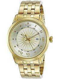 Titan Regalia Sovereign Analog Champagne Dial Men's Watch-1752YM02