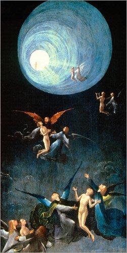 Posterlounge Leinwandbild 20 x 40 cm: Aufstieg in Das himmlische Paradies von Hieronymus Bosch -...