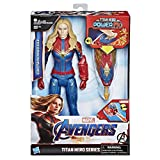 Marvel Avengers: Endgame - Captain Marvel Titan Hero con Power FX incluso, Action Figure da 30 cm, Versione Italiana
