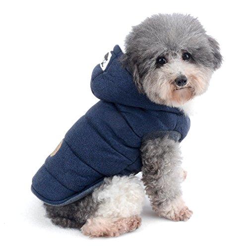 ranphy Winter Gepolsterte Hund Weste Coat Hoodies Katze Welpen kaltem Wetter Mäntel Jacke für kleine Hunde unter 9kg (IT 'S Run Small, die beiden nächsten Größe bis Bitte) Hund Hoodie