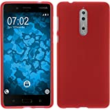 PhoneNatic Case für Nokia 8 Hülle Silikon rot matt Cover 8 Tasche Case