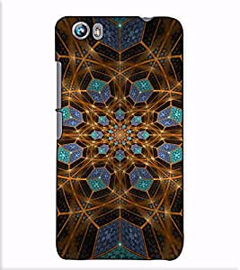 Fuson Designer Back Case Cover for Micromax Canvas Fire 4 A107 (Blue and brown designer work)