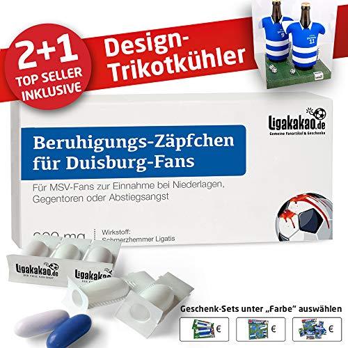 Home-Trikot ist jetzt Mein TRIKOTKÜHLER Geschenk-Set (2X Trikots + 1 ZÄPFCHEN) für MSV-Fans by Ligakakao.de
