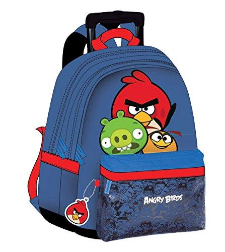 Sac à roulettes Angry Birds bleu
