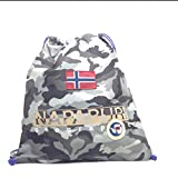Borsa Sacca Palestra Uomo Donna Napapijri Bag Men Woman North Cape Gym BackPack N3R22-CAMO GREY