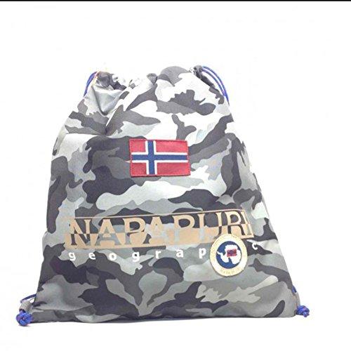 Gym backpack | Napapijri North Cape | 5ANN3R22-Camo Grey