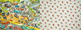 Baumwolljersey Digitaldruck Rennstrecke Panel 57 x 150 cm Kinderstoffe - Preis gilt für 1 Panel -