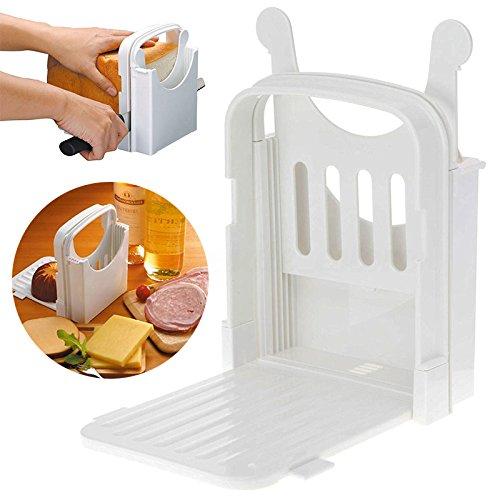 LianLe Brot schneide maschine Toast Slicer Falten und verstellbar mit 4 Scheiben Dicken