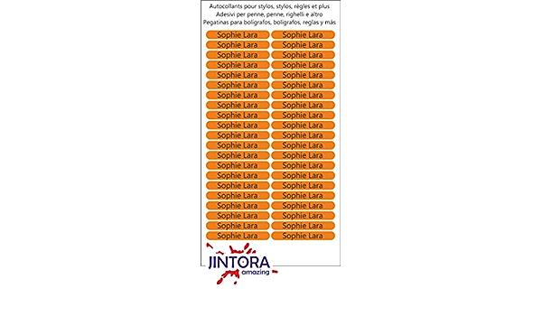 libri e materiale scolastico 36x7 mm pennette astuccio stampa individuale regole sfondo nero Nome adesivo Etichette adesive personalizzate per quaderni 150 pezzi per bambini