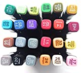 #8: Branded Imported 24 Color Set Touch Cool Alcohol Graphic Art Twin Tip Pen Marker Broad Fine Point