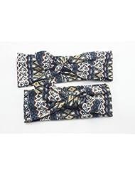 Bllomsem 1 paire de mamans et de bébés Imprimer bande de cheveux élastiques Bohemia style bandeau de coton 05