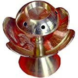    Green World Pooja Samagri    Brass Diwali Kuber Deepak On Stand (Diya Oil Lamp) With Eye Catching Classic Designs Ideal For Aarti/ Pooja/ Puja/ Home Decore/ Temple/ Auspicious / Gifts Purpose