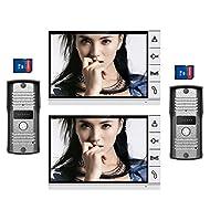 "9"" LCD big Screen Wired Video Intercom Door Phone with 8GB SD card Picture Record Taking photo Kit IR Camera DoorPhone Door bell 2-Monitor 2-Camera Doorbell"