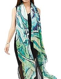 Las bufandas de las mujeres Gran tamaño damas vestidos de noche envuelve bufanda impresión protector solar toalla de playa chal para…