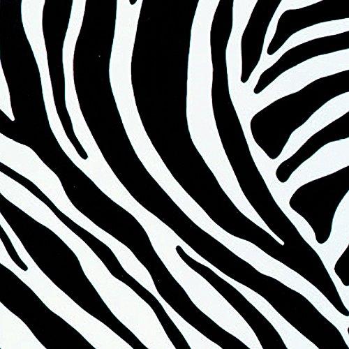 Klebefolie - Möbelfolie Zebra - schwarz weiss 0,67 m x 15 m Selbstklebefolie mit Animal Print Motiv - Bastelfolie - Zebra Liege