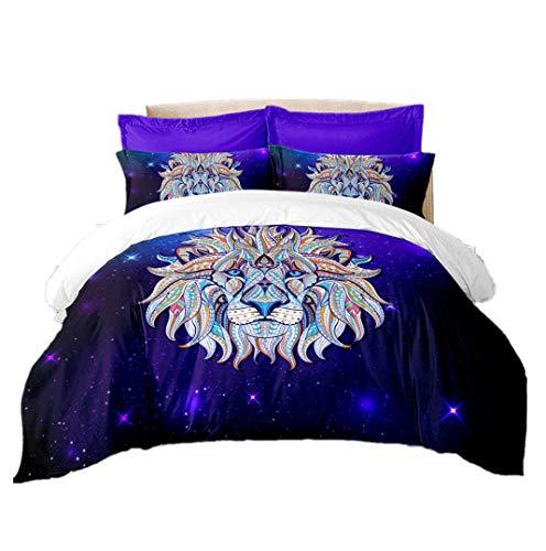 978b3a36c912a Sticker Superb 3 Pièces Violet Galaxie Housse de Couette avec Taie  d oreiller Homme Femme