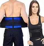 Regulable Neopreno Doble Tirador Lumbar Apoyo Inferior Espalda Cinturón Brace–Dolor de espalda/Slipped Disco Alivio Del Dolor–5tamaños, medium 28–32, cuerpo y base Ltd TM