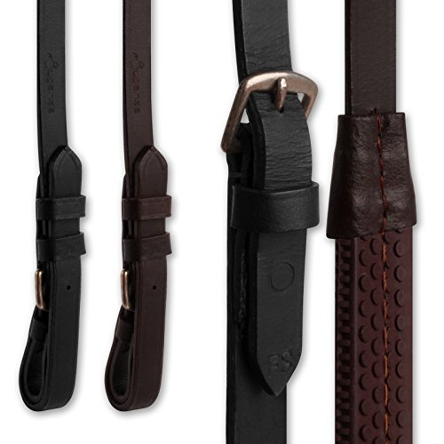 51yU9ngMAYL BEST BUY UK #1Brown Finest Imported Leather Rubber Grip Horse Riding Reins   Size Full AND Tigerbox® Antibacterial Pen! price Reviews uk
