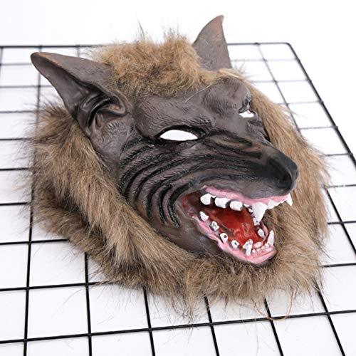 or Teufel KostüM Requisite Maske Voll Kugelkopf Wolf Chef Set ()