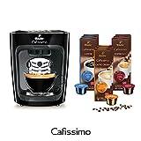 Tchibo Cafissimo mini Kaffee Kapselmaschine inkl. 90 Kapseln, Midnight Black