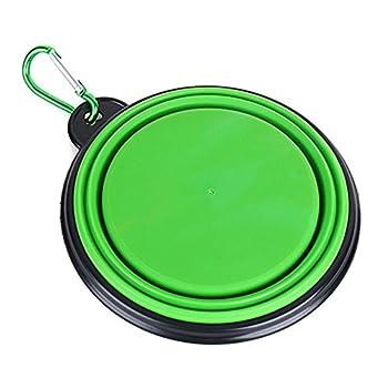 Momangel Portable Nourriture pour animaux Eau bols rétractable en silicone Chien bols pour voyage Camping